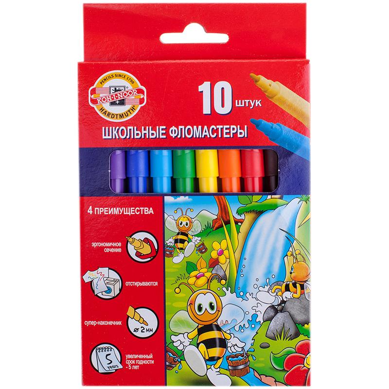 Фломастеры 10 цв K-I-N Пчелка к/к