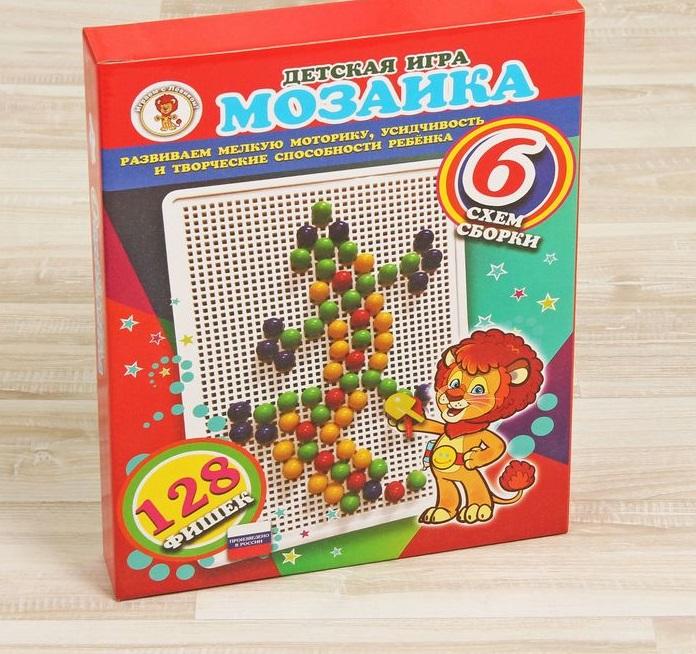 Игра Мозаика 128 фишек Ящерица (красная)