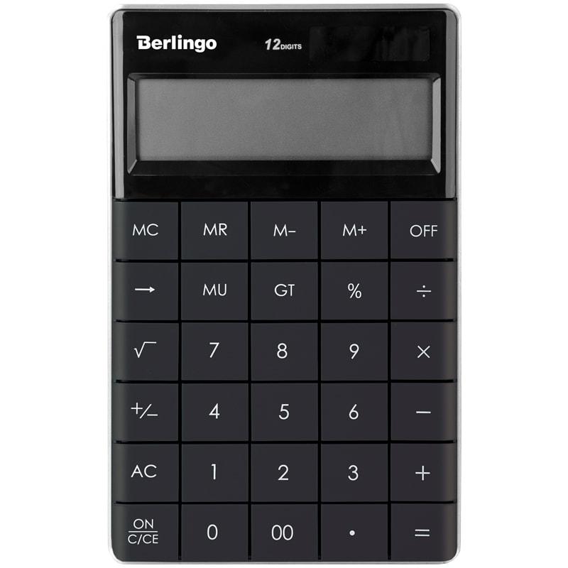 Калькулятор 12 разр. Berlingo Power TX настоль двойн питание антрацит