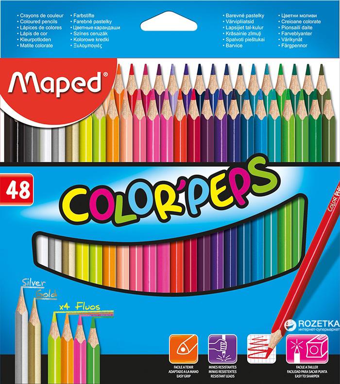 Карандаши цветные 48 цв Maped Color Peps треуг к/к