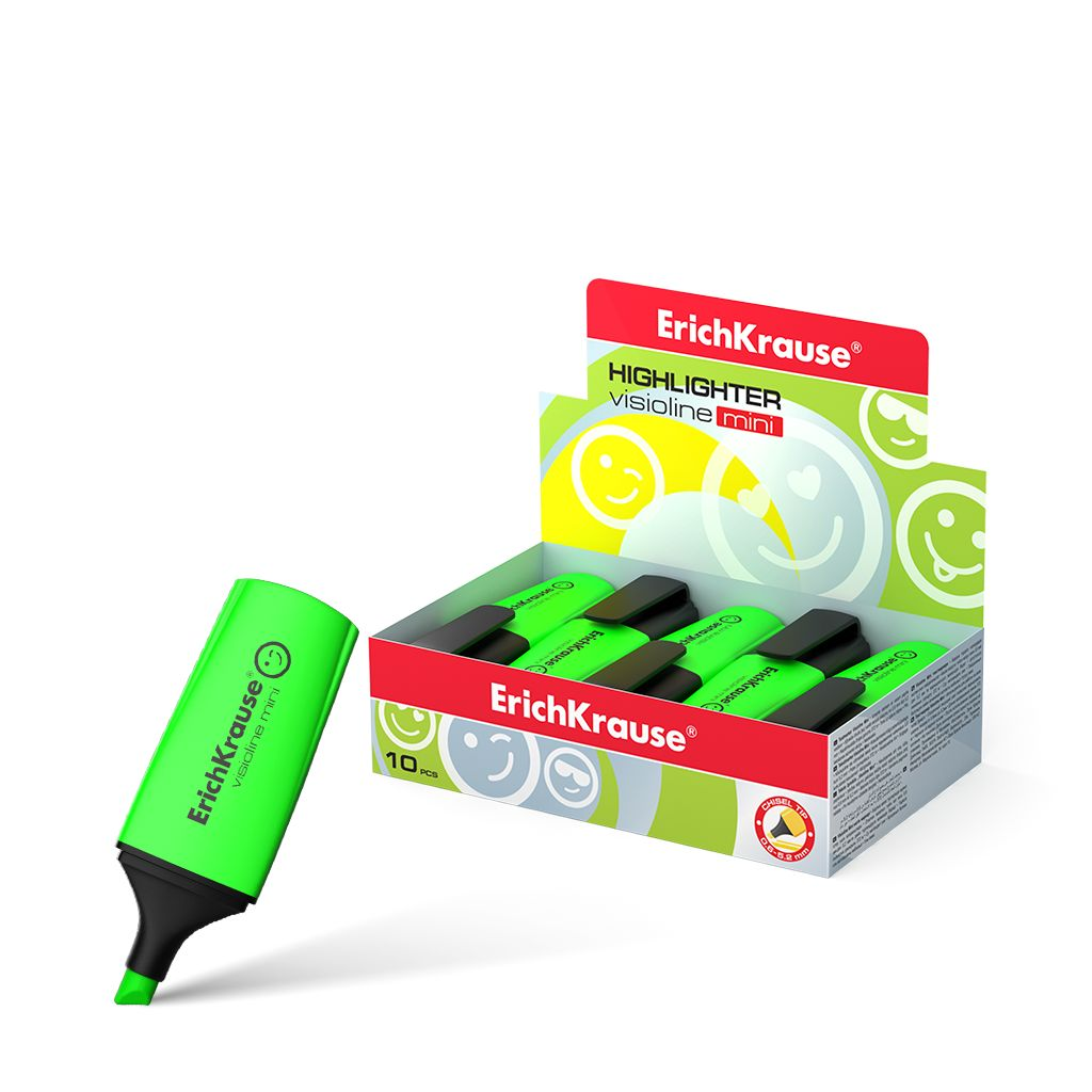 Маркер-выделитель зеленый 0,6-5,2мм