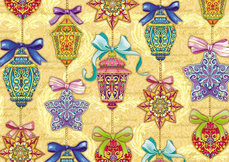 Праз Бумага упак. в рулоне НГ 70*100 Новогодняя Гирлянда