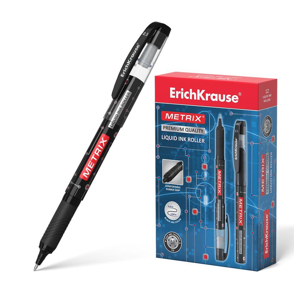 Ручка роллер черная EK Metrix корпус черный