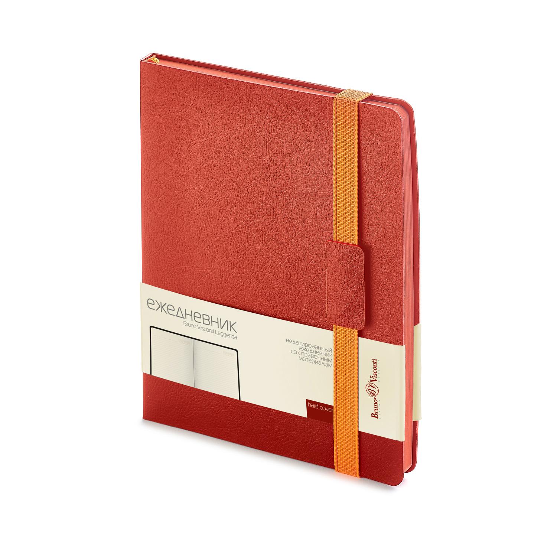 Ежедневник А4 BV Leggenda красный на резинке недат