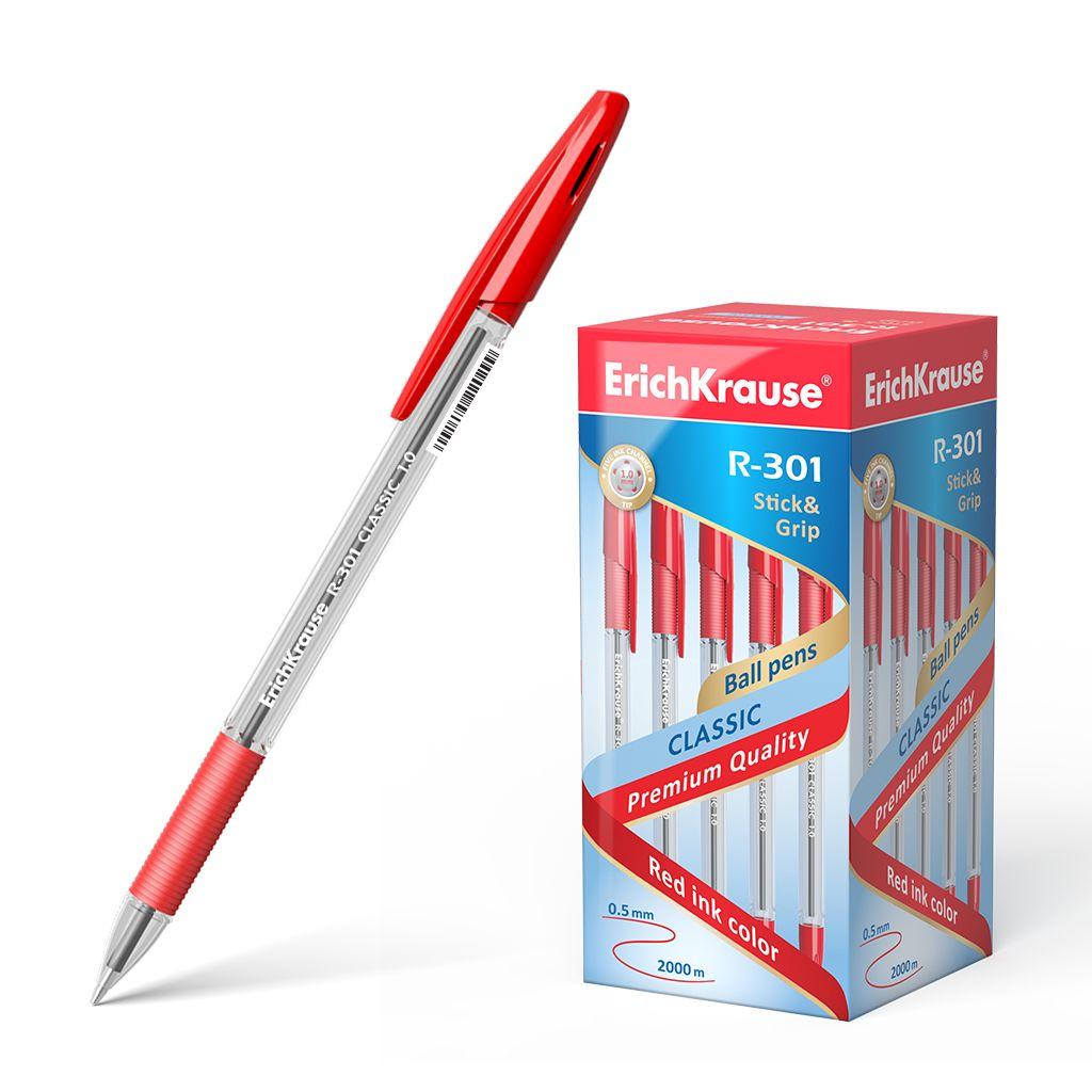 Ручка шариковая красная EK R-301 Classic Stick&Grip 1мм