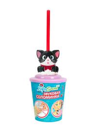 Звуковая соломинка (кошка черно-белая)
