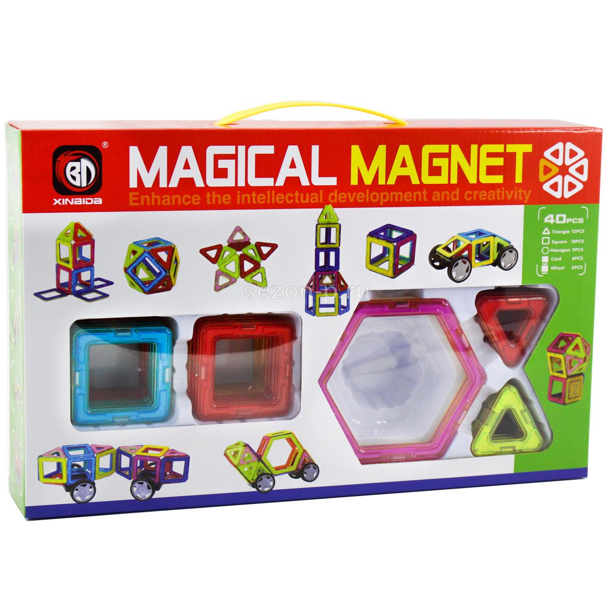 Конструктор магнитный Magical Magnet 40 дет.