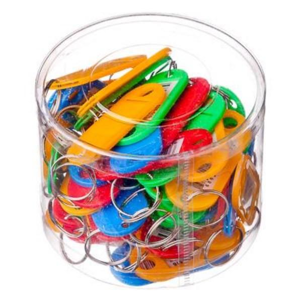 Брелок пластик c окошком для записей (для ключей)
