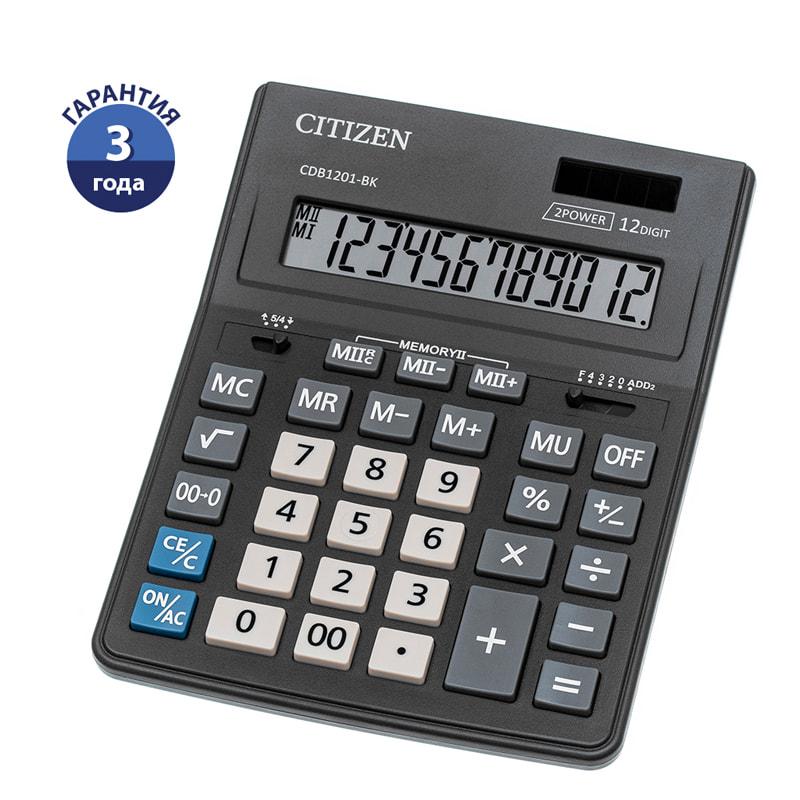 Калькулятор 12 разр. CITIZEN 157*200*35мм черный ( аналог 888 )