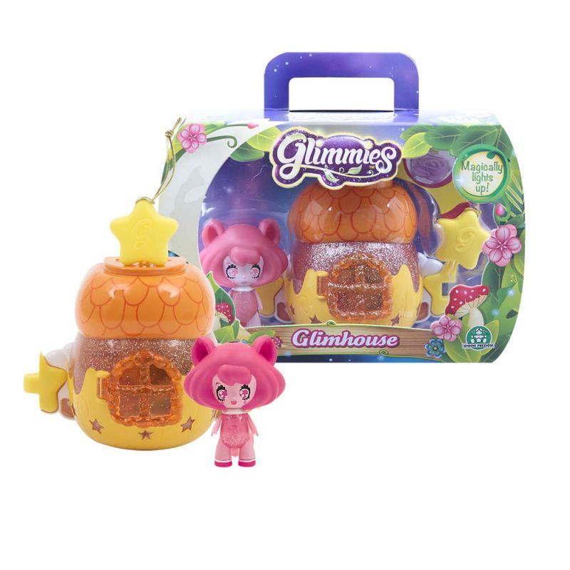 Домик Глимхаус Glimmies в ассорт. (домик + кукла) светится в темноте