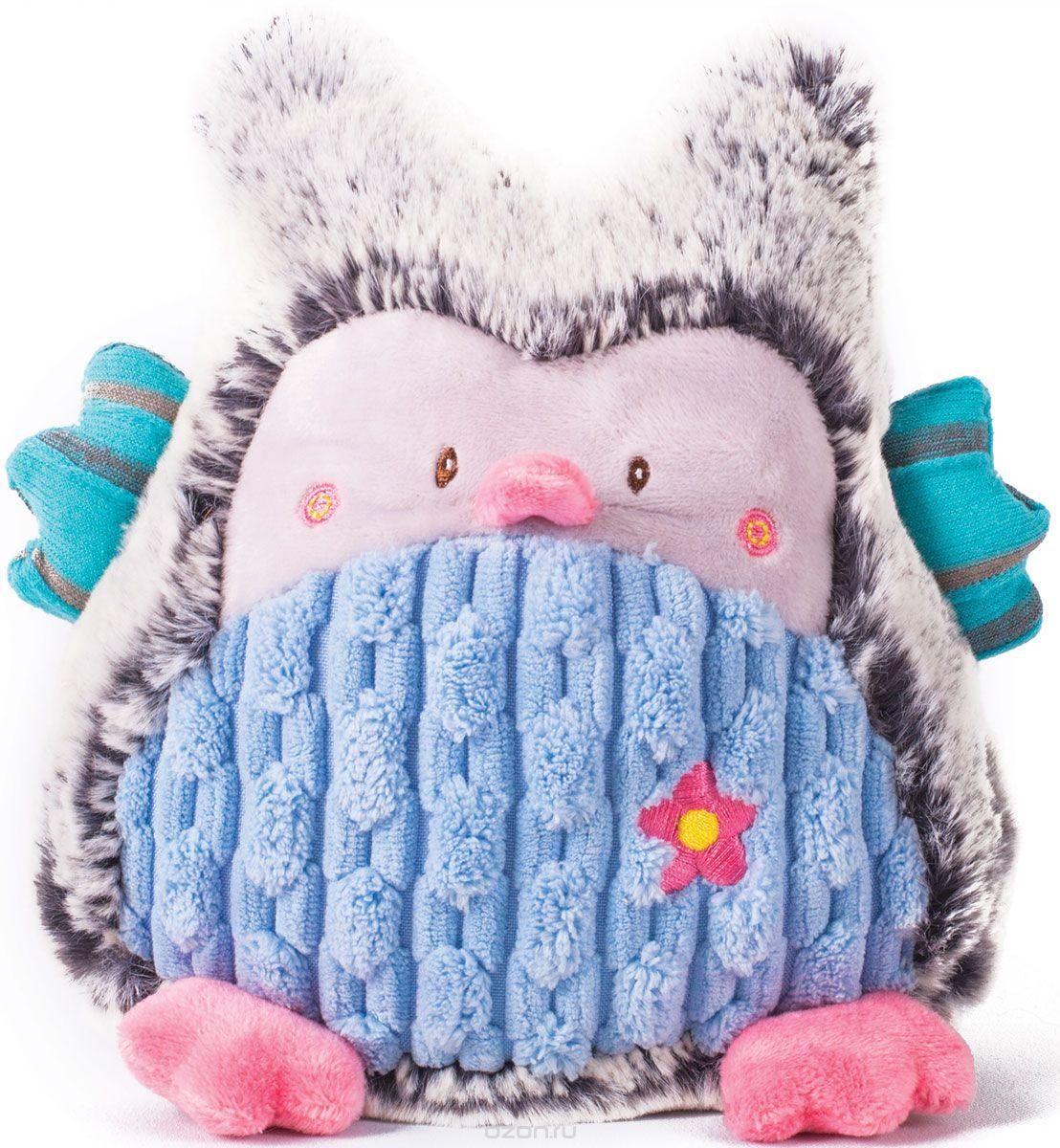 Мягконабивная Совушка серо-голубая 17см