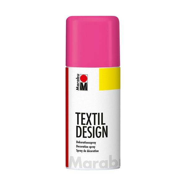Краска по ткани в аэрозоли Textile Design малиновый 150мл