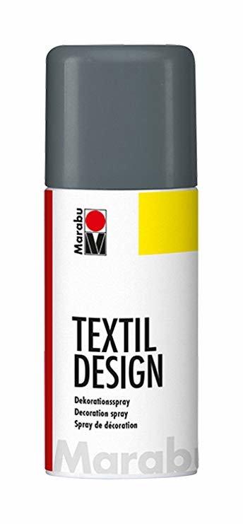 Краска по ткани в аэрозоли Textile Design графит 150мл