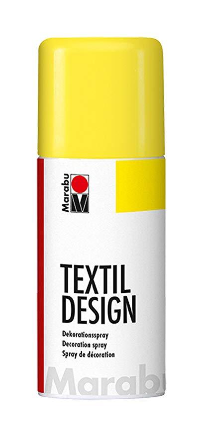 Краска по ткани в аэрозоли Textile Design желтый 150мл