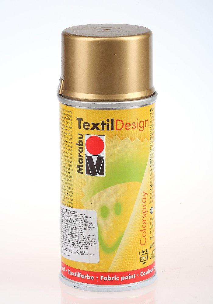 Краска по ткани в аэрозоли Textile Design золото 150мл