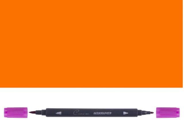 Аквамаркер Сонет двусторонний, оранжевый