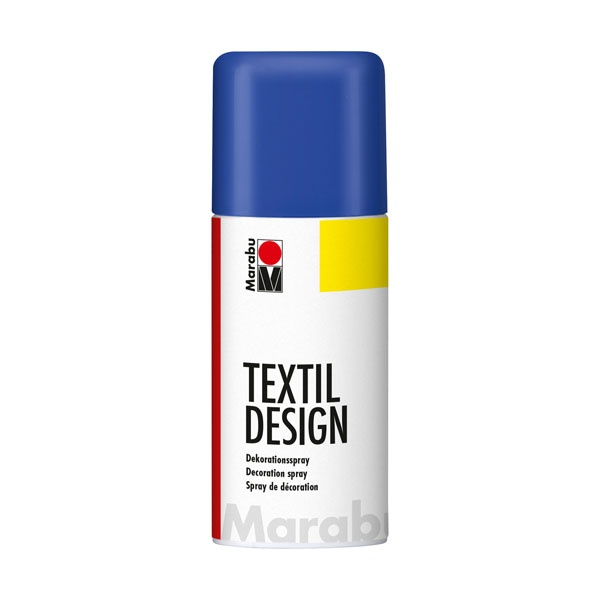 Краска по ткани в аэрозоли Textile Design синий 150мл
