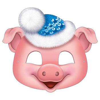 Маска 3-03-5055А Новогодняя! глит Свинка