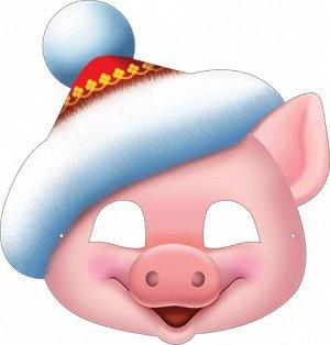 Маска 3-03-5054А Новогодняя глит Свинка