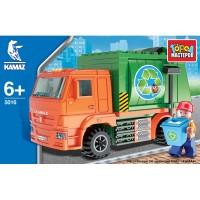 Конструктор Камаз: мусоровоз с фигуркой