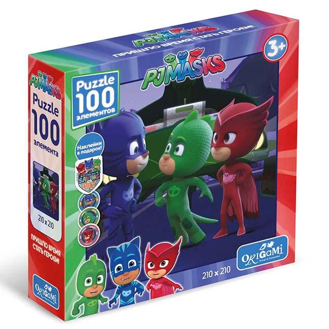 Пазл 100 Origami 04051 Герои в масках Супер-Грег +наклейки
