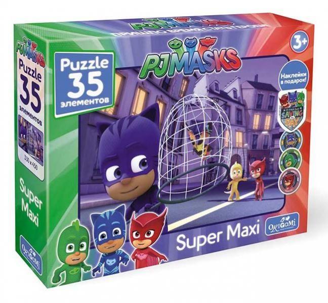 Пазл 35 Origami Maxi 04060 Герои в масках Бабочка +наклейки