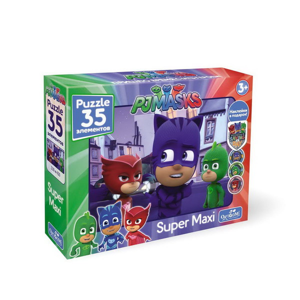 Пазл 35 Origami Maxi 04062 Герои в масках Кэтбой +наклейки