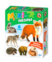 Пазл Maxi Лесные животные 6шт
