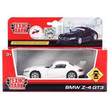 Машина BMW Z-4 gt3, 1:38, метал. инерц. открыв. двери