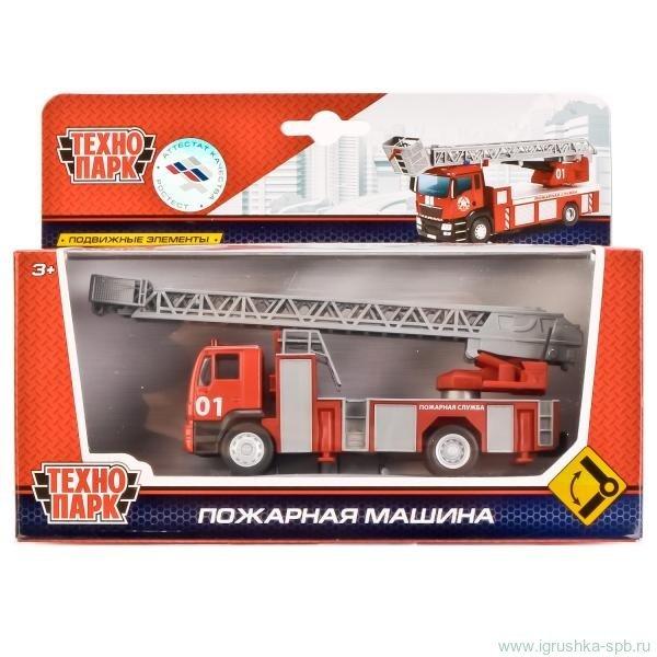 Машина Пожарная 1:64 15см метал подвижные элементы