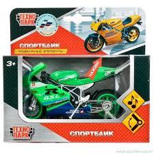 Мотоцикл суперспорт металл 11,5см озвуч., подвиж. элементы