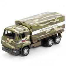 Машина Камаз 65207 военный бортовой со съемным тентом 12см инерц