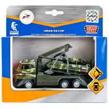 Набор Камаз Эвакуатор 12см метал инерц + танк Т-90 7,5см