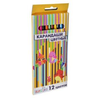 Карандаши цветные 12 цв Academy акварельные в метал.упак