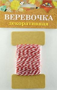Веревка двухцветная красная с белым