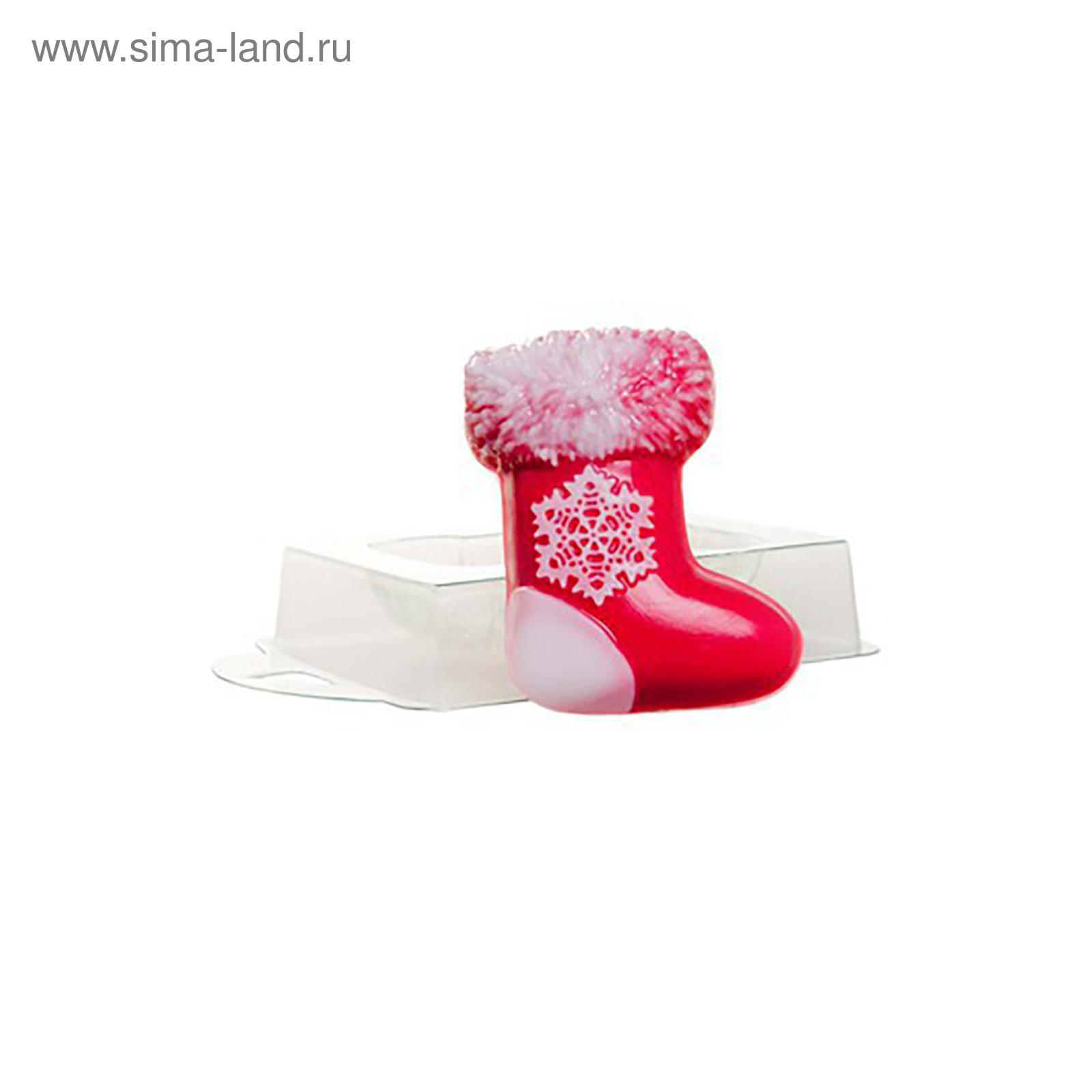 Формочка для мыловарения НГ Валенок Рождественский