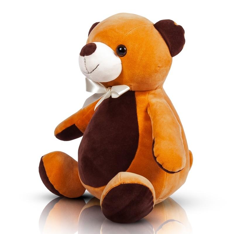 Мягконабивная Медвежонок с бантиком (16 см)