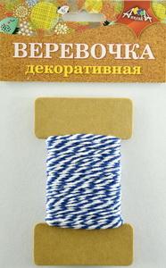Веревка двухцветная синяя с белым