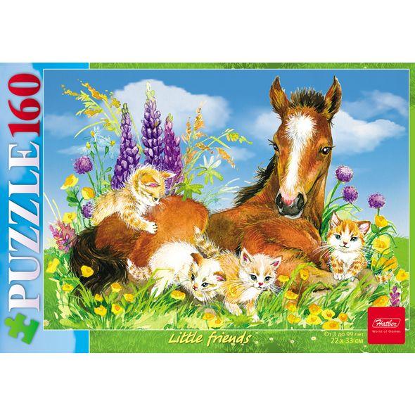 Пазл 160 Лошадка и котята