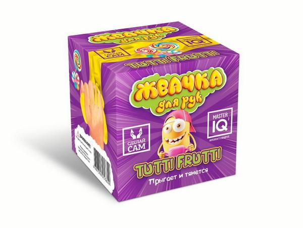 Набор для экспериментов Жвачка для рук Tutti Frutti прыгает и тянется