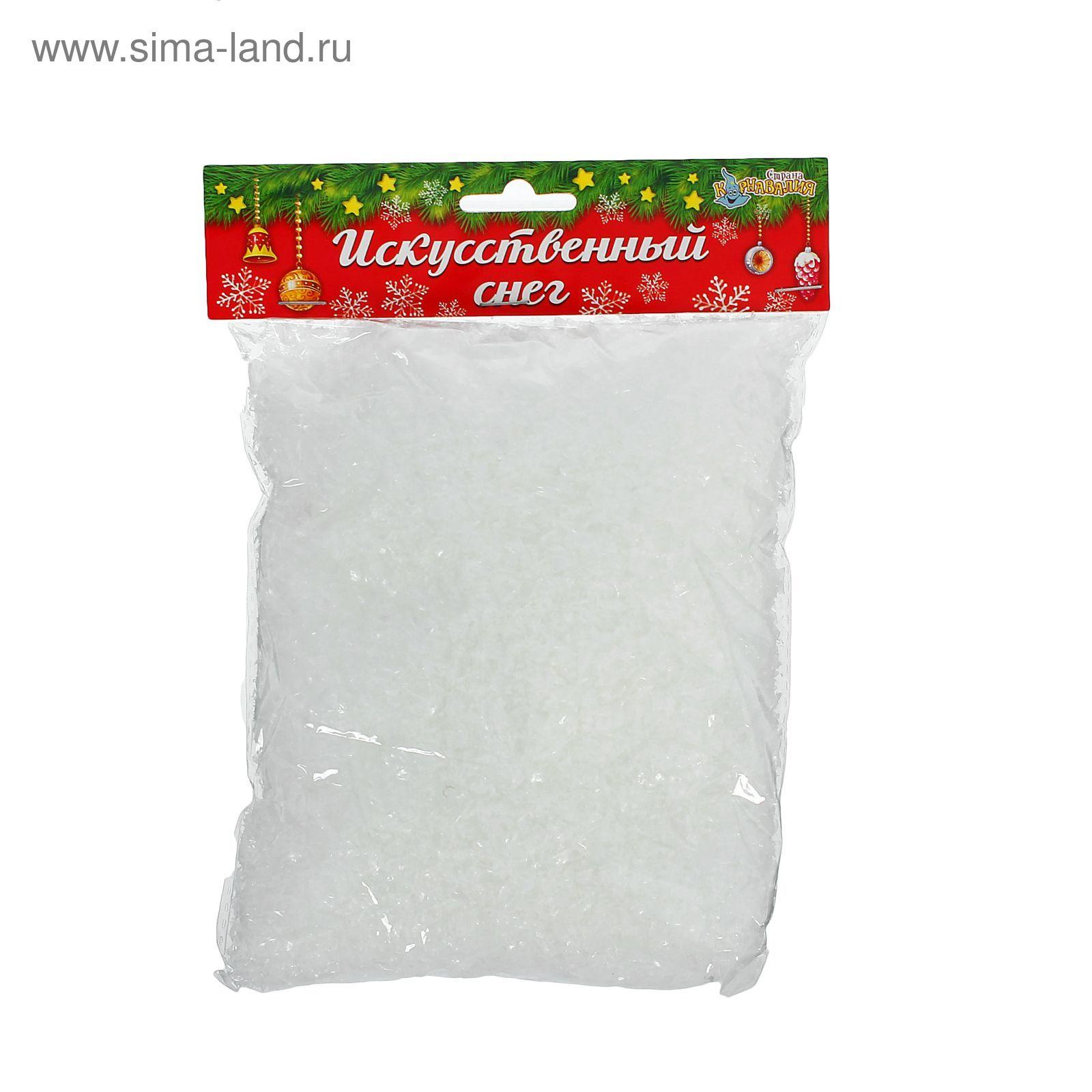 Декор Снег искусственный прозрачный 100 грамм