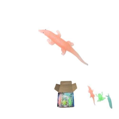 Лизун Крокодил/Змея/Жаба/Слизень 18см, свет. в темноте