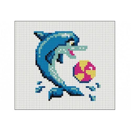 Творч Набор для вышивания 43х43 Дельфин