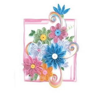 Творч Квиллинг Яркие цветы
