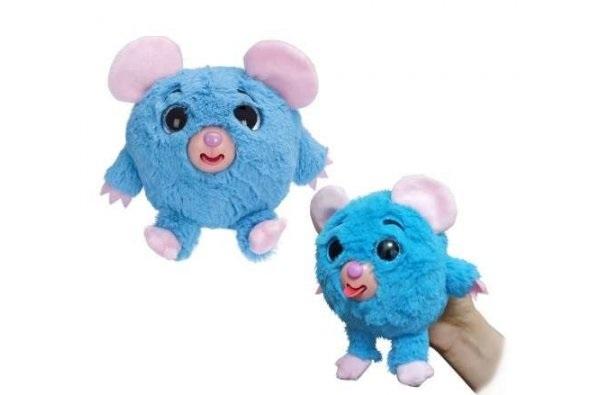 Мягконабивная Дразнюка-Zooка Мышка плюш. синяя, показ.язык,13см