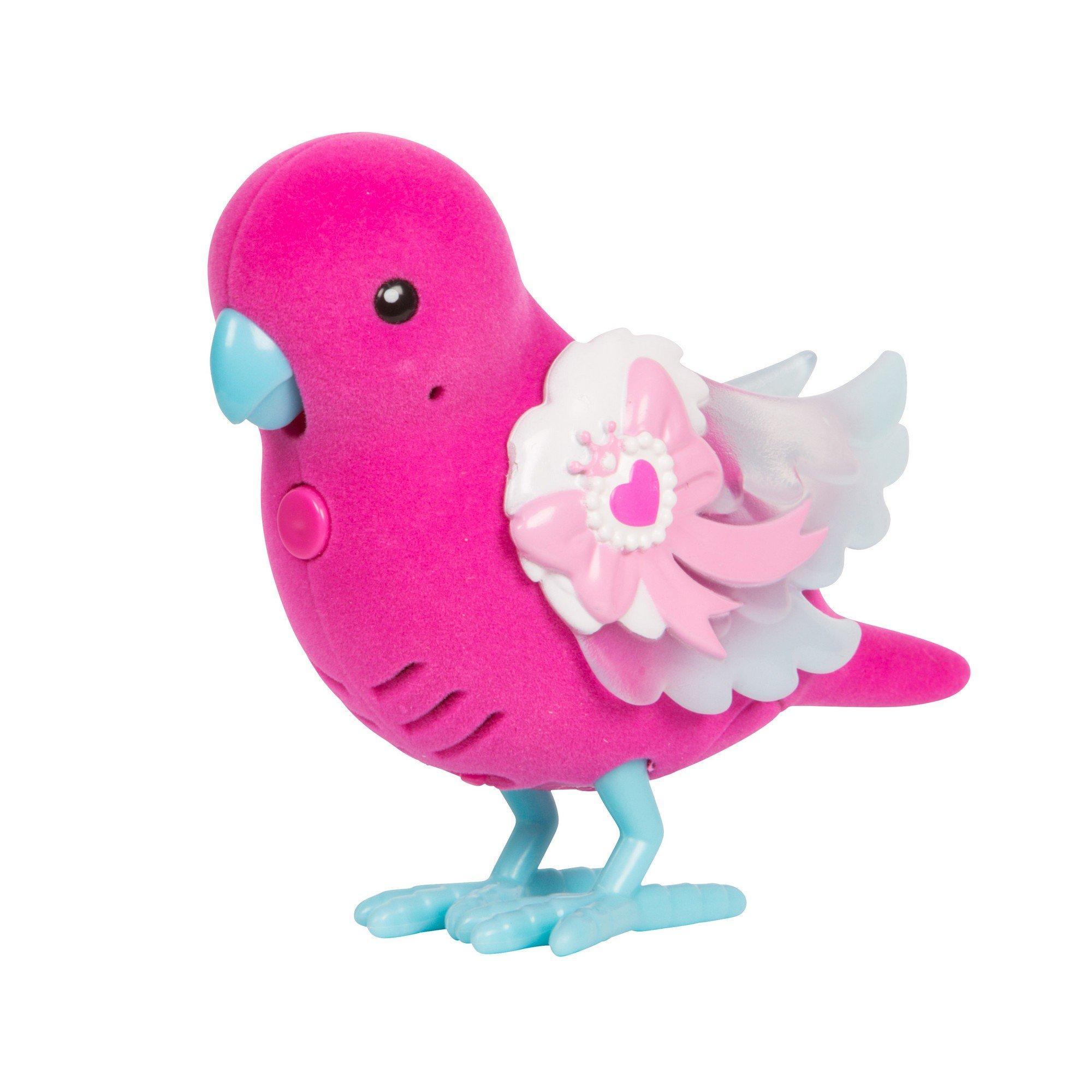 Птичка со светящимися крылышками Сияющий Бантик, на батар.