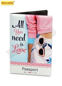 Обложка для паспорта Miland All you need is love ПВХ