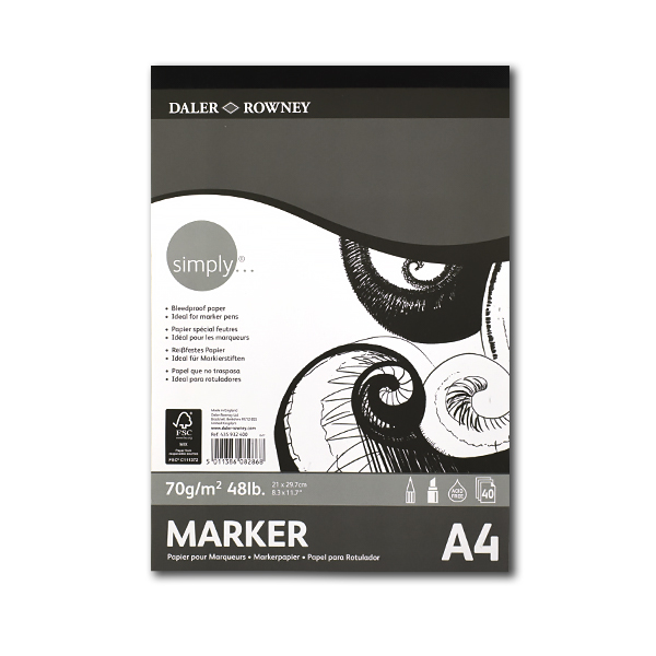 Альбом д/маркеров 40л SIMPLY склейка 70г/м2