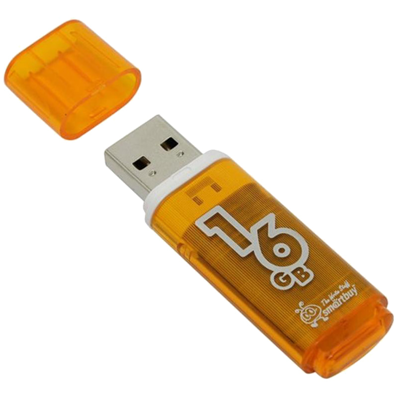 Флэш-карта USB 16GB Smartbuy Glossy series оранжевый USB 2.0