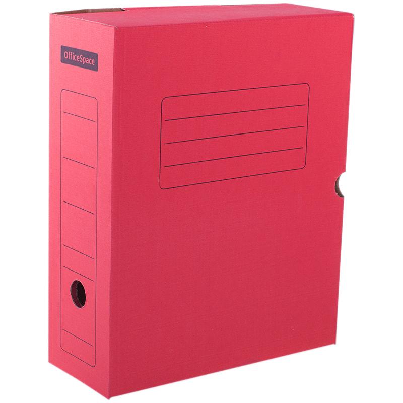 Папка архивная 100мм на клапане микрогофрокартон красный